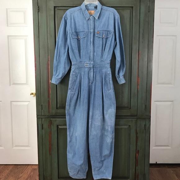 8e3ef0e49f40 Lizwear Pants - Distressed Denim Jumpsuit Lizwear 5 Pocket Sz Med